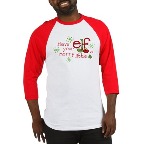 Merry Elf Baseball Jersey