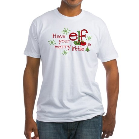 Merry Elf Fitted T-Shirt