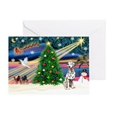 Xmas Magic & Dalmation Greeting Card