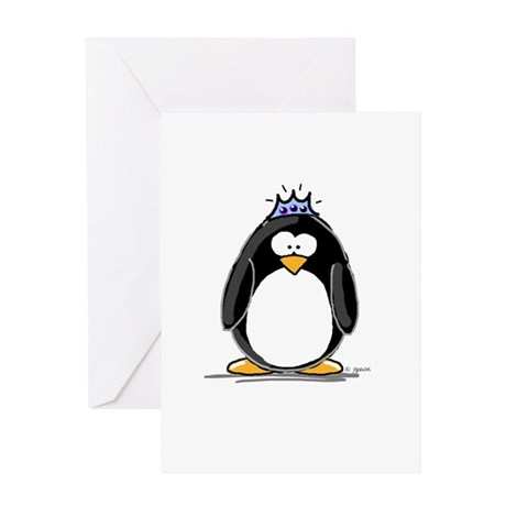 Princess Penguin Greeting Card