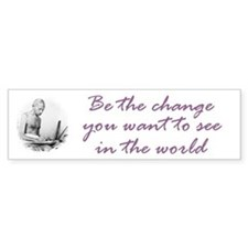 Mahatma Gandhi Quote Bumper Bumper Sticker