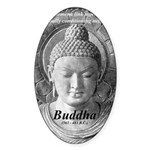 Buddha Buddhism Quote Picture Oval Sticker