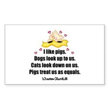 Winston Churchill Quote Rectangular Decal