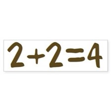 2+2=4 Bumper Bumper Sticker
