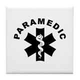 Paramedic Star Of Life Tile Coaster