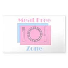 Meat Free Zone Rectangular Decal