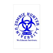 A Zombie Hunter University Rectangle Decal