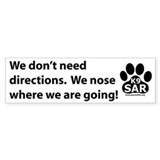 No directions bumper sticker
