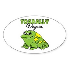 Toadally Vegan Oval Decal