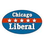 Patriotic Chicago Liberal Sticker