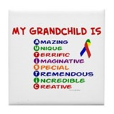 My GrandChild Is Autistic Tile Coaster