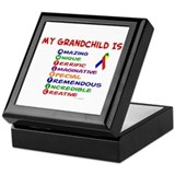 My GrandChild Is Autistic Keepsake Box