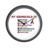 My GrandChild Is Autistic Wall Clock