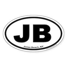 """Jones Beach, NY """"JB"""" Euro Style Oval Decal"""