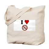 I Love No Smoking Tote Bag