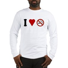 I Love No Smoking Long Sleeve T-Shirt