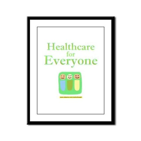 Healthcare for everyone Framed Panel Print