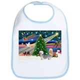 Xmas Magic & Dandie pair Bib