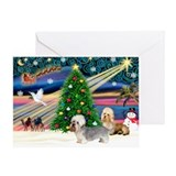 Xmas Magic & Dandie pair Greeting Card