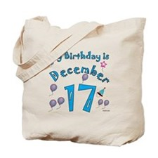 December 17th Birthday Tote Bag