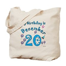 December 20th Birthday Tote Bag