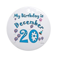 December 20th Birthday Ornament (Round)