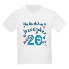 December 20th Birthday T-Shirt
