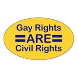 Gay Rights Oval Decal