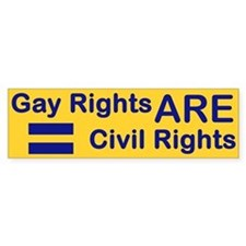Gay Rights Bumper Bumper Sticker