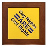 Gay Rights Framed Tile