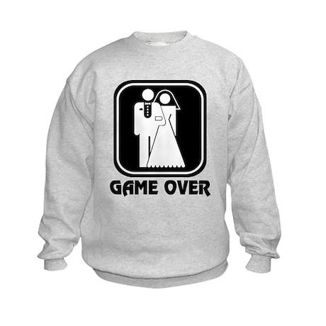 Wedding Icon: Game Over Kids Sweatshirt