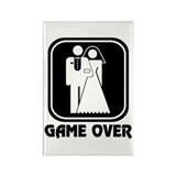 Wedding Icon: Game Over Rectangle Magnet (10 pack)