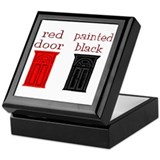 red door painted black Keepsake Box