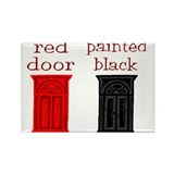 red door painted black Rectangle Magnet (10 pack)