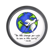 World Gandhi - Be The Change Wall Clock