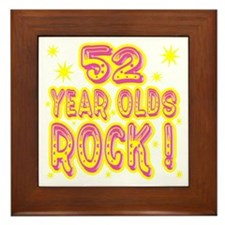 52 Year Olds Rock ! Framed Tile