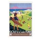 Tunis Tunisia Golfing Postcards (Package of 8)