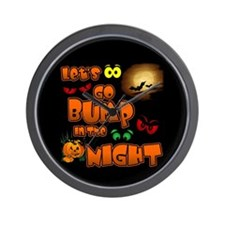 Let's Go Bump in the Night Wall Clock