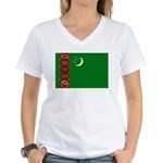 Turkmenistan Women's V-Neck T-Shirt