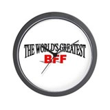 """The World's Greatest BFF"" Wall Clock"