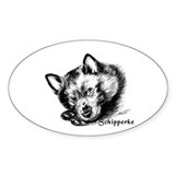 Sleeping Schip Pup Oval Decal