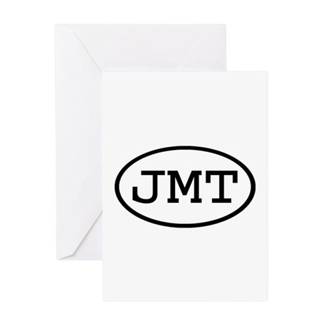 JMT Oval Greeting Card