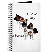 I Love My Akita Journal