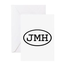 JMH Oval Greeting Card