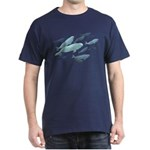 Beluga Whales Dark T-Shirt Wildlife Art T-shirts