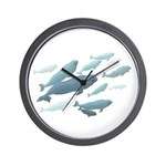 Beluga Whales Wall Clock Marine Wildlife Gifts