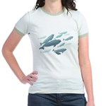 Beluga Whales Jr. Ringer T-Shirt Wildlife T-shirts