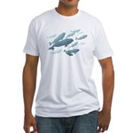 Beluga Whales Fitted T-Shirt Wldlife Art T-shirt