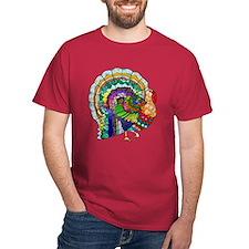 Patchwork Thanksgiving Turkey T-Shirt