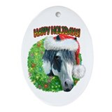 Happy Holidays Ziggy Oval Ornament